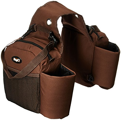 51xFl7lYpDL - Tough 1 Nylon Water Bottle/Gear Carrier Saddle Bag