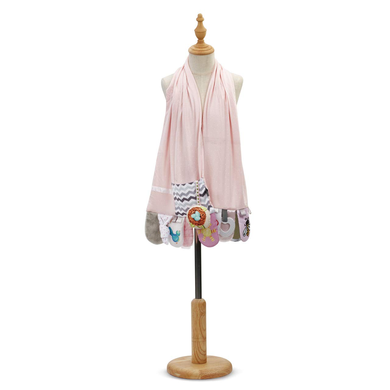 Baby Activity Pretty Pink One Size Fits Most Polyester Fabric Fashion Scarf