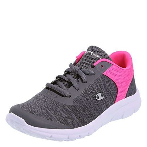 Champion Girl's Grey Jersey Pink Girls' Performance Gusto Cross Trainer Little Kid Size 13.5 Regular