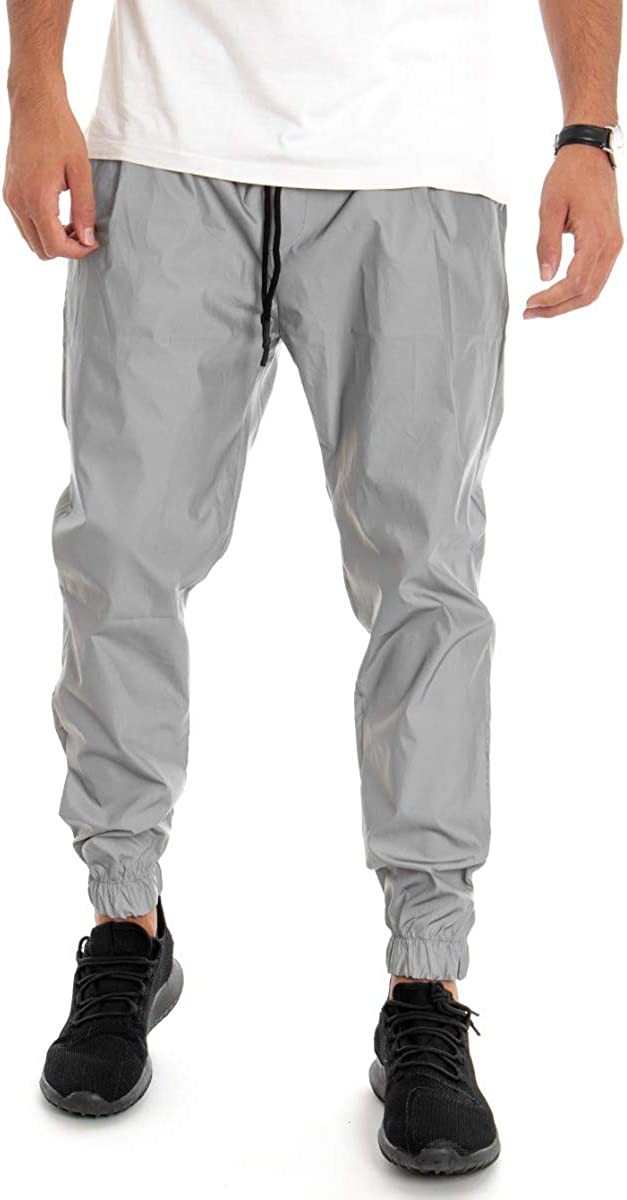 Giosal – Pantalón de Hombre Reflectante, chándal Reflectante ...