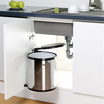 Amazon.com: HPCZZ 9L Stainless Steel Pivot Out Trash Can ...