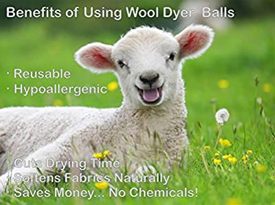 EcoJeannie (WB0008 - 8 Pack) Wool Dryer Balls - New and Improved XL Eco-Friendly Natural Unscented Fabric Softener Static Guard - Handmade in Nepal with 100% natural New Zealand premium wool from surface to core.