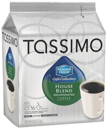 Maxwell House Cafe Collection House Blend Decaf, (Medium) 16-Count T-Discs for Tassimo Brewers (Pack of 3)
