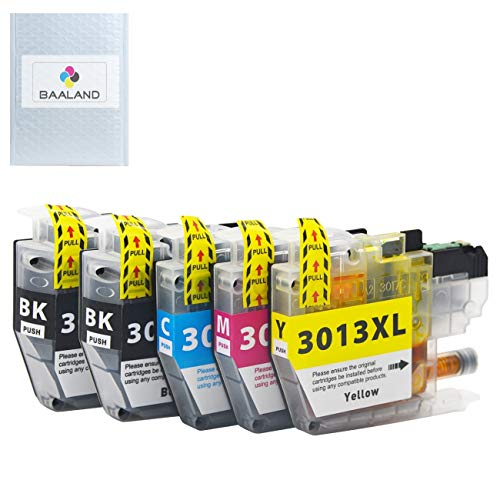 Replace Brother LC3013 Ink Cartridge Compatible LC-3013 (2 Black, 1Cyan, 1 Magenta, 1 Yellow) for Brother MFC-J491DW MFC-J497DW MFC-J690DW MFC-J895DW Printer