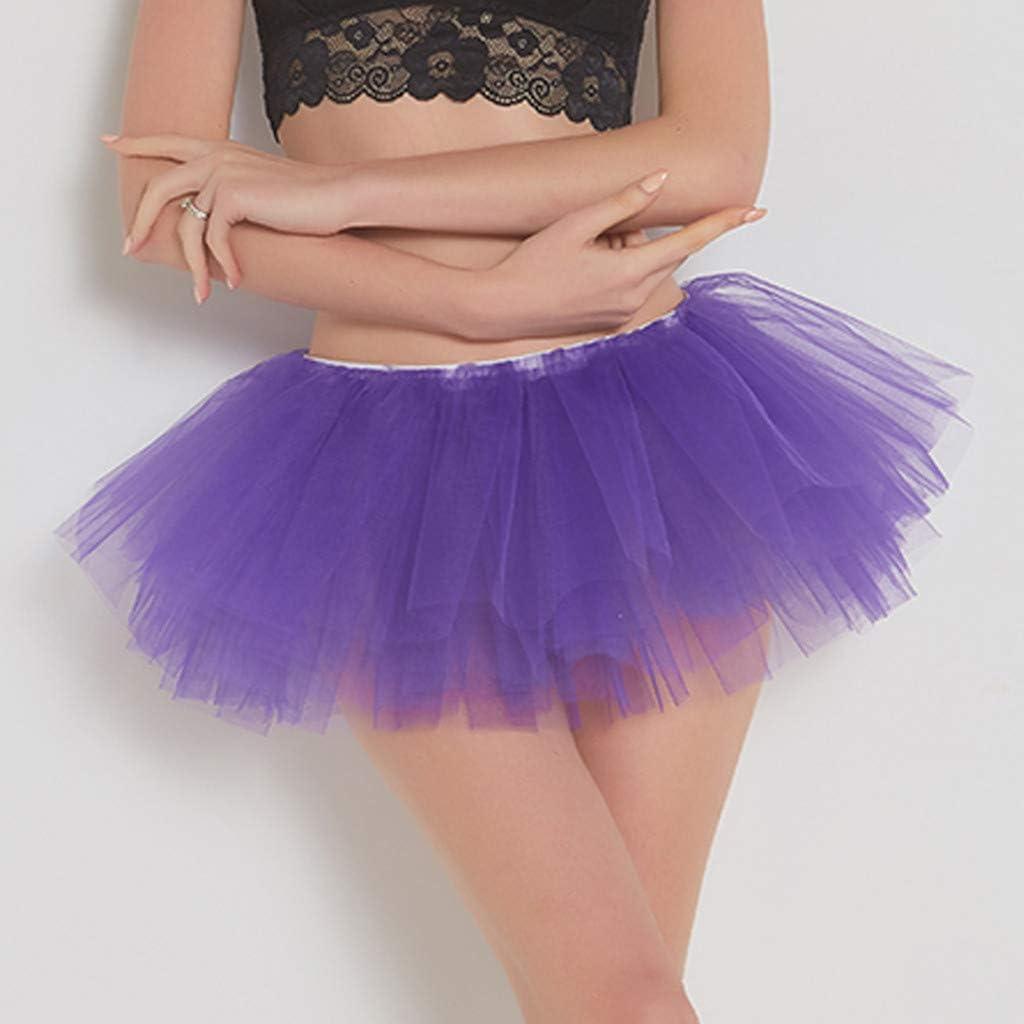Meclelin - Falda de Tul para Mujer, años 50, Retro, tutú, Bubble ...