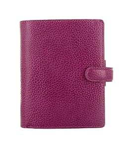 Filofax Finsbury 025342 - Agenda archivador de bolsillo (piel), diseño granulado, color morado, tamaño de bolsillo