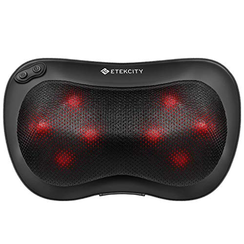 Etekcity EM-SH7 , Massage Pillow, 8 Heated Rollers Shiatsu Back Neck Massager, Unisex