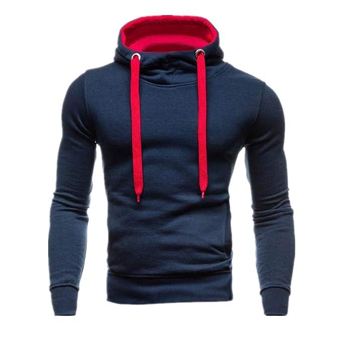 MEIbax Sudaderas con capucha para Hombre Hombres Otoño Invierno Color Puro Sudadera con Capucha Tendencia de Moda Blusa: Amazon.es: Ropa y accesorios