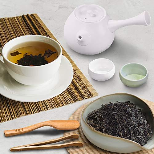 Yan Hou Tang Chinese Organic Yunan Puerh Black Tea Loose Leaf 10 Years Aged Premium Leaves - 250g Delicious Pu'er Tea for Energizing Detox Weight Loss