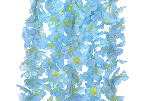 Artificial-Silk-Wisteria-Flower-Hanging-Garland-Home-Wedding-Party-Decor-Pack-of-5