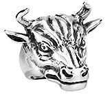 Bishilin Men's Gift Stainless Steel Vintage Bull Skull Ring Size 13