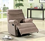 Cheap US Pride Furniture Beige Microfiber Recliner