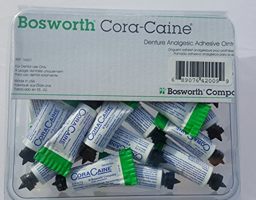 Cora-caine Denture Analgesic Adhevise Cream .14 oz. Qty 10 Tubes 4 gram by CoraCaine ()