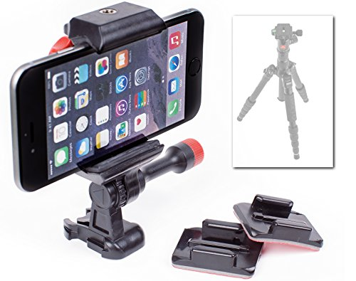 Universal Phone Camera Stand Holder for Tripods, Action Sports, Motorcycles, Windshields, Snowmobiles, Cars, & More