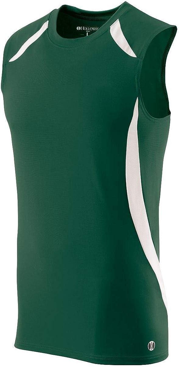 MENS SPRINT SINGLET Holloway Sportswear 2XL Forest//White