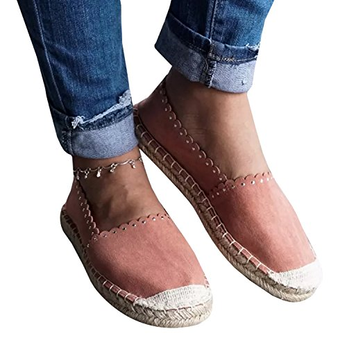 Syktkmx Womens Espadrilles Loafers Flat Comfort Slip on Closed Toe Walking Driving Shoes