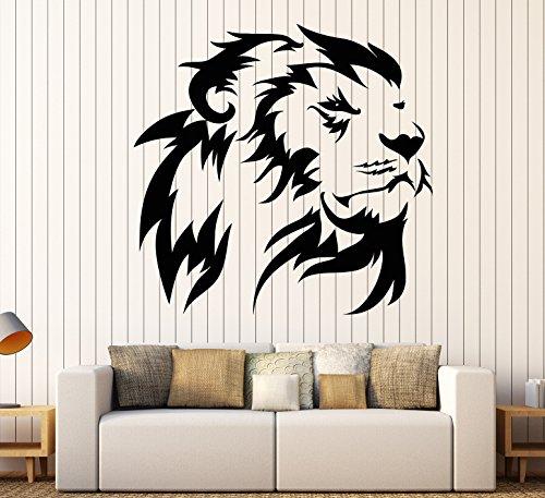 Vinyl Wall Decal Lion King Head African Animal Predator Stickers Large Decor (1396ig) Gold Metallic by DesignToRefine