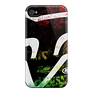 Great Hard Cell-phone Case For Apple Iphone 4/4s With Support Your Personal Customized Attractive Fox Racing Pattern LauraAdamicska