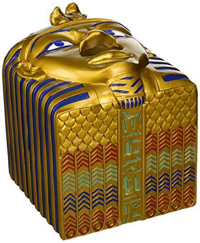 (Design Toscano Tissue Box Cover - King Ah-Ah-Choo Egyptian Tissue Box Holder - Toilet Tissue Box)