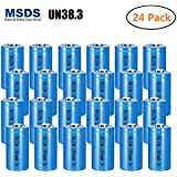 Bingogous CR123A Lithium Battery 3V 1300mAh with PTC Protection Leak Resistant Non-Rechargeable CR123 Batteries for Flashlight Light Meter Toys Torch, NOT Fit For Arlo (24-Pack)