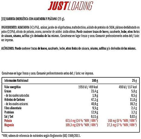Just Loading - Barritas Energéticas Almendra y Plátano 3 x 25 g