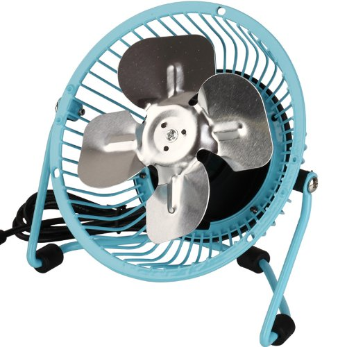 Comix Mini Personal Desktop Fan, 4'', Metal Design, Quiet Operation, Air Radiator for Laptop,USB Cable Powered, Blue (L602) by Comix (Image #4)