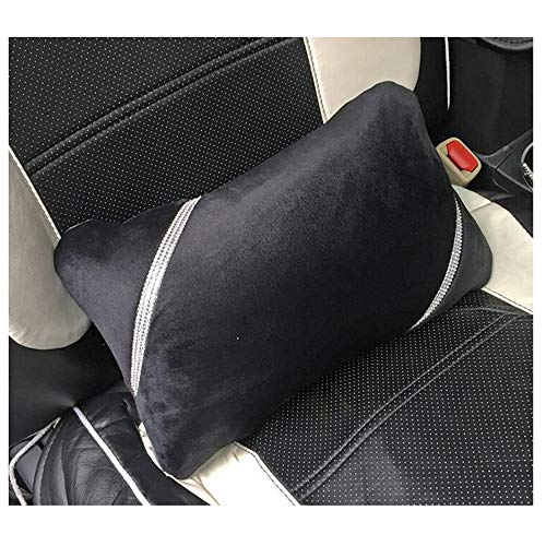 - Siyibb 1 Pc Soft Plush Car Waist Pillow Crystal Rhinestone Seat Back Support Lumbar Cushion - Black