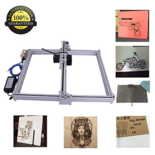 (DIY CNC Laser Engraver Kits Wood Carving Engraving Cutting Machine Desktop Printer Logo Picture Marking, 40x50cm,2 Axis (500MW))