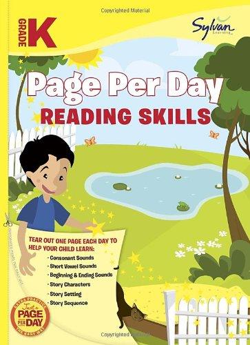 Kindergarten Page Per Day: Reading Skills (Sylvan Page