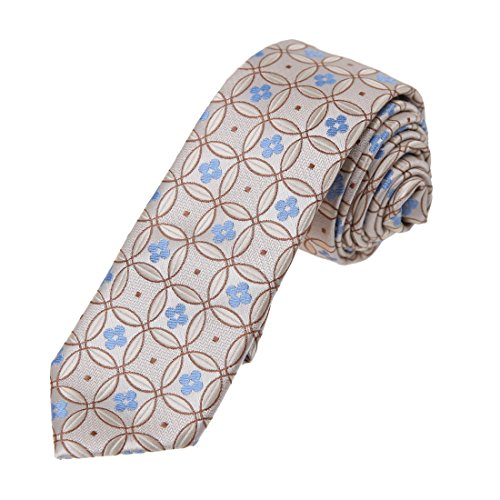 light blue and brown tie - 4