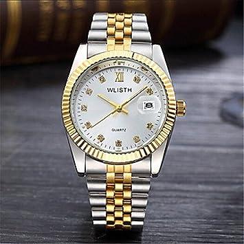 Bella relojes, unisex reloj Alla Moda Casual cuarzo aleación banda plata oro, amarillo
