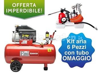 Fini Amico - Compresor eléctrico modelo (50 litros, incluye kit de aire): Amazon.es: Bricolaje y herramientas