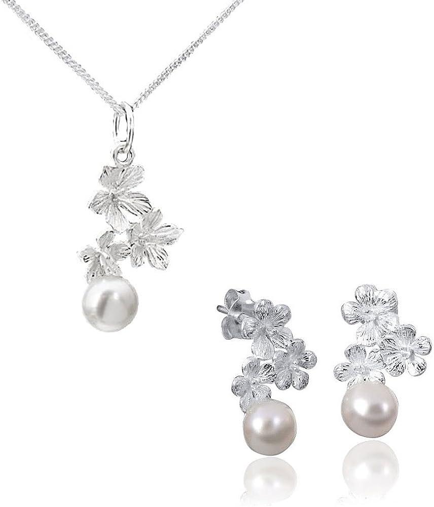 Box MATERIA Damen Anhänger Silber 925 mit Perle aus Süßwasserzucht rhodiniert