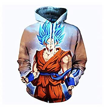 DRAGON BALL anime Son Goku printing fashion cotton hoodie round collar full sleeves casual sweatshirt sport hoodie