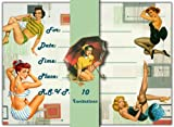 Dolce Mia Pin-up Girls Invitations - Pack of 10 Fill-in Cards