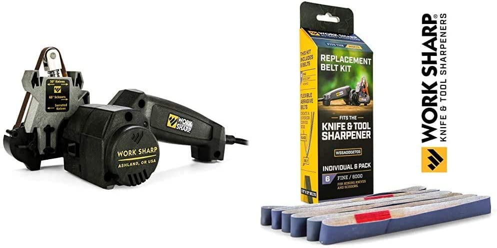 Work Sharp Knife & Tool Sharpener & Original 6000 Belt