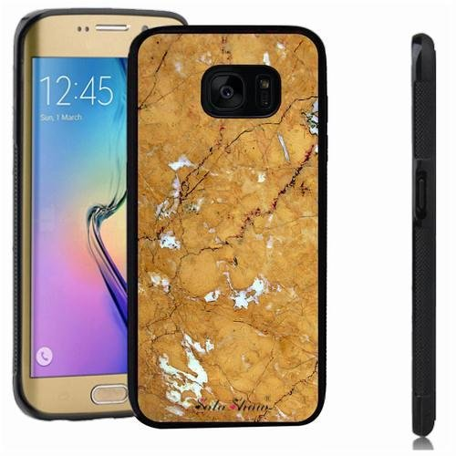 Galaxy S7 edge case, SoloShow(R) Slim Shockproof TPU Soft Case Rubber Silicone for Samsung Galaxy S7 edge [Gold] -