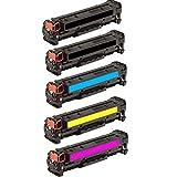 HD Toner 5pk (2B,C,Y,M) 131A CF210A CF211A CF212A 213A Toner For HP Laserjet Pro 200 M251nw M276nw