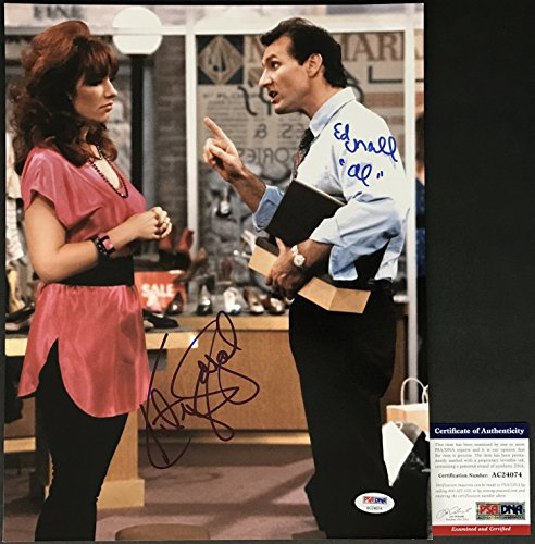 CLASSIC! Ed O'Neill Katey Sagal Signed MARRIED WITH CHILDREN 11x14 Photo - Brad Pitt Married