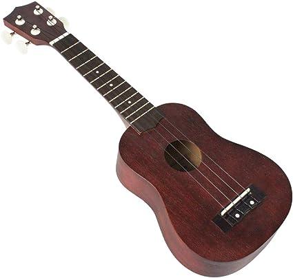 Sharprepublic - Mini ukelele de guitarra (21 pulgadas, 4 cuerdas ...