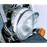 i5® Chrome 7-inch Headlight Visor for Honda Kawasaki Suzuki Yamaha Harley