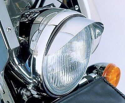 - i5 Chrome 7-inch Headlight Visor for Honda Kawasaki Suzuki Yamaha