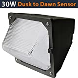 Best Wall Light With Glass Lenses - 30W LED Wall Pack with Built In Photo Review