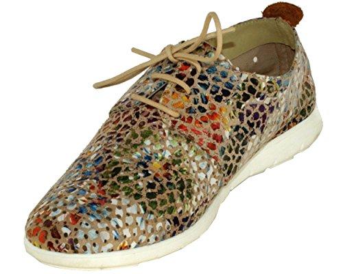 de Zapatos Piel de Folie's Cordones Lisa Mujer F5HqqwdI