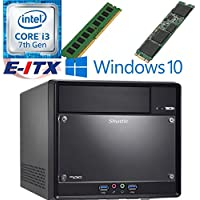 Shuttle SH110R4 Intel Core i3-7100 (Kaby Lake) XPC Cube System , 4GB DDR4, 120GB M.2 SSD, DVD RW, WiFi, Bluetooth, Window 10 Pro Installed & Configured by E-ITX