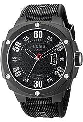 Alpina Men's AL525BB5FBAE6 Analog Display Swiss Automatic Black Watch