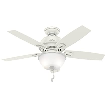 Hunter 52226 casual donegan bowl light fresh white ceiling fan with hunter 52226 casual donegan bowl light fresh white ceiling fan with light 44quot aloadofball Choice Image