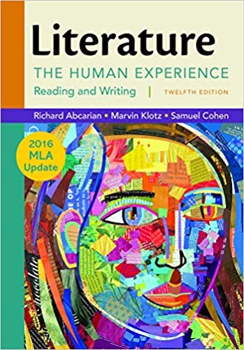 [By Richard Abcarian ] Literature: The Human Experience with 2016 MLA Update Twelfth Edition (Paperback)【2018】by Richard Abcarian (Author) (Paperback) (Literature The Human Experience With 2016 Mla Update)