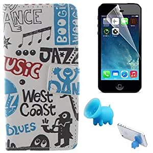 QJM iPhone 5/iPhone 5S compatible Graphic Case with Kickstand