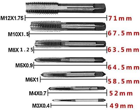1pc Metric Right Hand Tap M5x0.5 mm Taps Threading Tools M5 mm x 0.5 mm